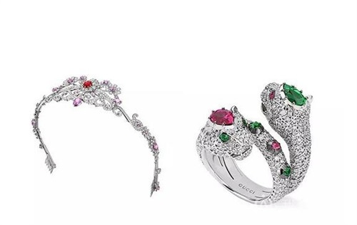 Gucci古驰推出首个Hortus Deliciarum 欢愉之园高级珠宝系列