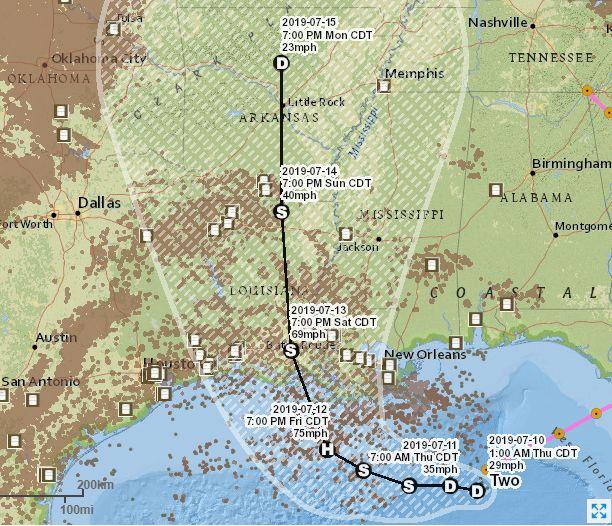 图1-2:本次热带风暴路径