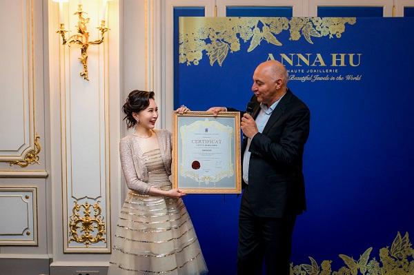 珠宝艺术家ANNA HU取得法国高定公会会员资格