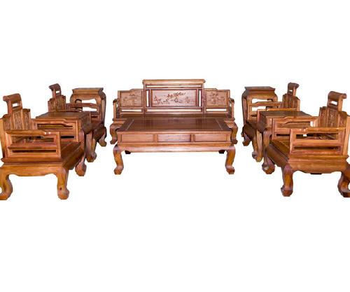 """""""颐江南红木沙发卷书沙发""""一套红木家具多少钱?"""