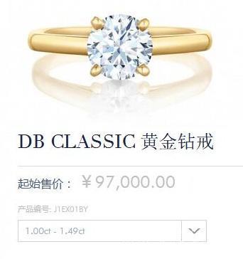 戴比尔斯钻石价格表