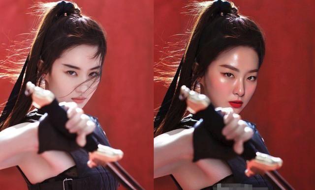 花木兰海报换脸 刘亦菲海报被韩国女星换脸