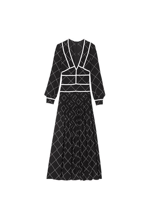 longchamp珑骧 成衣系列黑白色连衣裙亮相