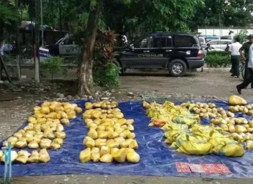 缅甸警方查获非法运输玉石翡翠2349公斤