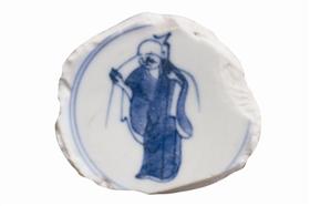 晚明瓷画上的西天祖师宾头卢