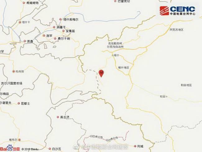 新疆阿克陶3.7级地震 震源深度120千米