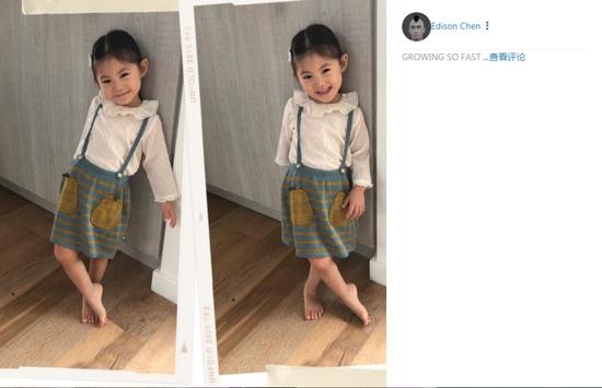 陈冠希叹女儿成长快 网友:这是小舒培啊!