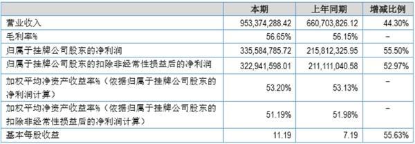 新三板公司雷霆股份发布2019年半年度报告