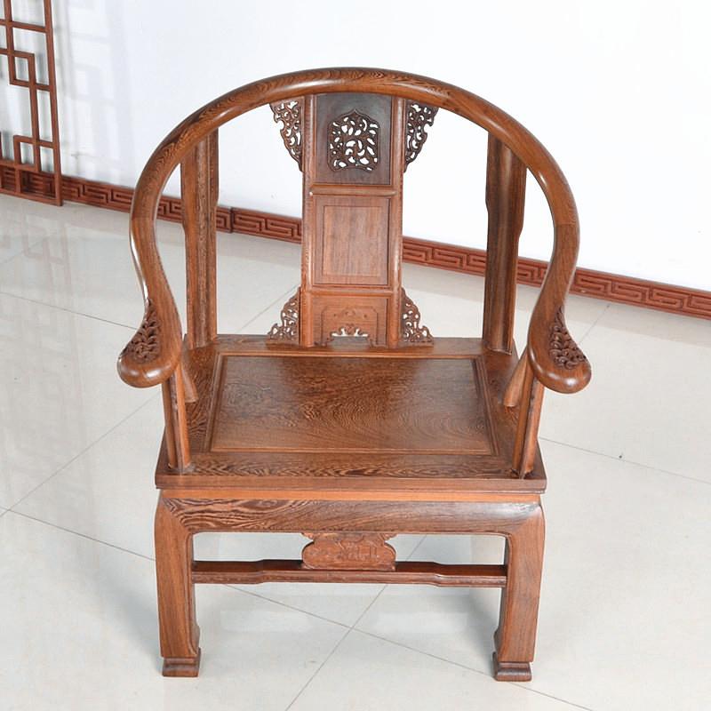 """""""朝艺阁清式红木家具鸡翅木皇冠椅cyg-028""""红木家具价格多少钱"""