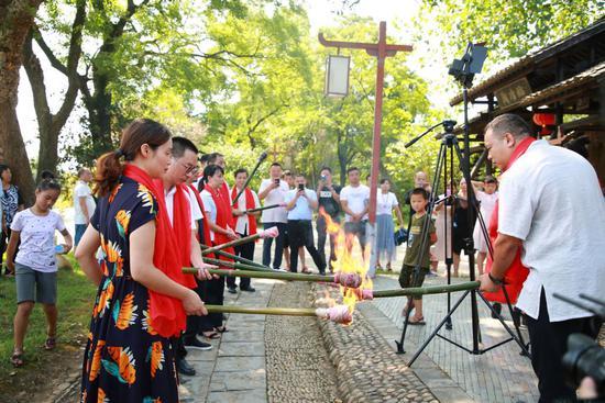 千年古窑《吉叶长青》点火仪式隆重举行