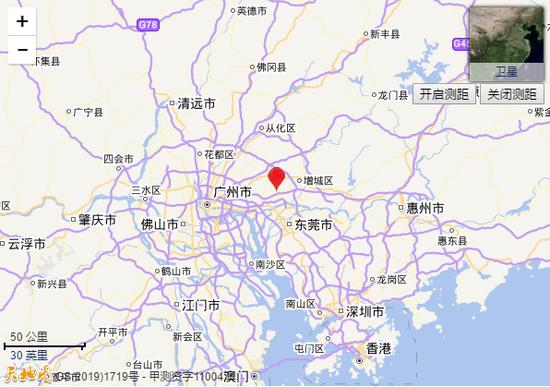 广州增城区发生2.4级地震 震源深度5.6千米