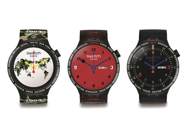 Swatch与街头潮牌BAPE联合推出六款全新限量版腕表