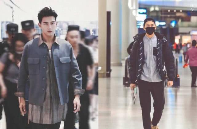 李现机场照片 黑色真的好适合他