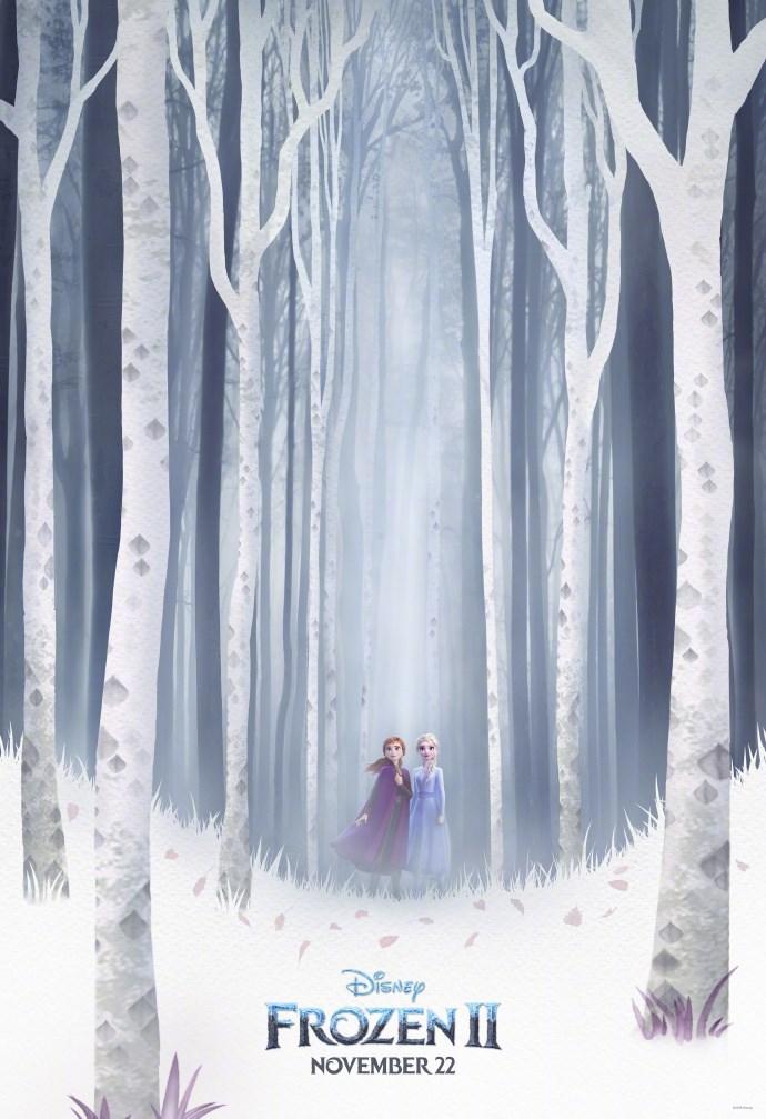 冰雪奇缘2海报 11月22日登陆北美