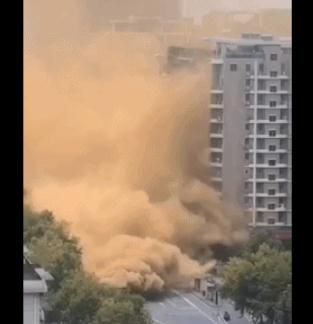 杭州发生地面坍塌 目前现场未发现人员伤亡