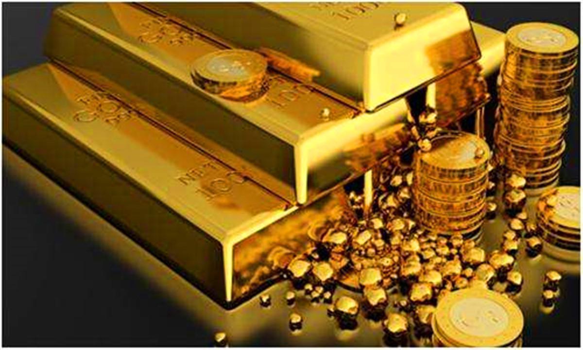 黄金价再度创下短期高点