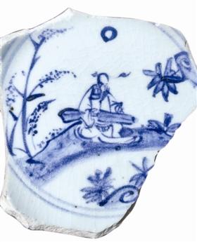 """明成化弘治年间瓷片上的""""月下鸣琴"""""""