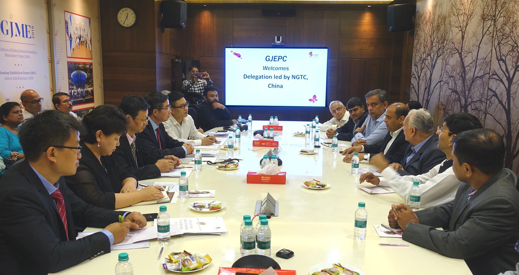 NGTC与印方代表举行座谈 推进中印双边珠宝科技合作
