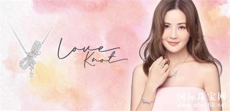 蔡卓妍阿SA为英皇珠宝LoveKnot系列拍摄唯美广告大片