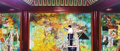 历时5个月的黄鹤楼主楼5楼壁画修复结束