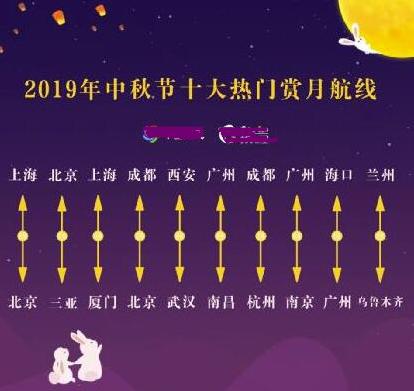 全国中秋赏月地图 明天南京秦淮河皓月当空照