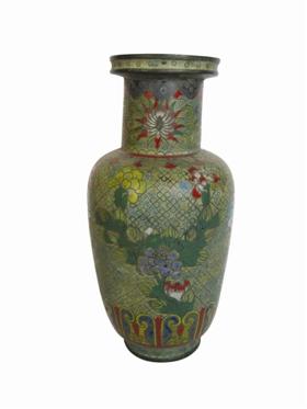 清晚期铜胎掐丝珐琅棒槌瓶鉴赏