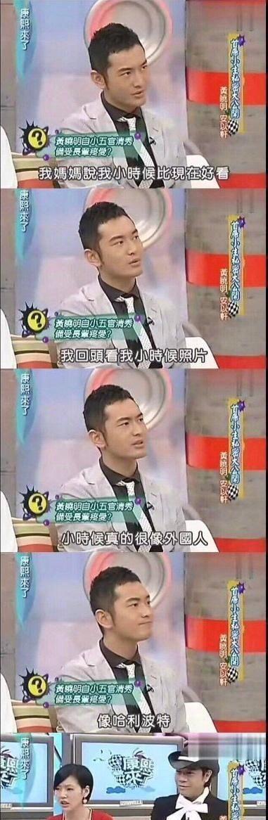黄晓明哈利波特 还真的挺帅的有点像杨幂
