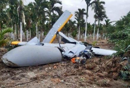 印度国产无人机坠毁 事发时无人机正在测试场试飞