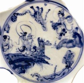 明代成化时期瓷片作品上演绎的麻姑献寿故事