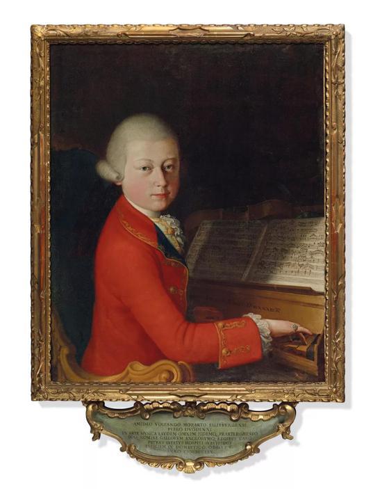 佳士得秋拍将呈现天才音乐家莫扎特的肖像画