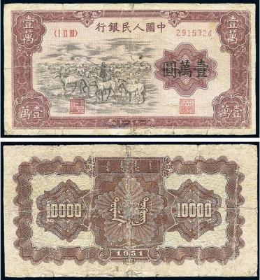 万元牧马纸币市场行情