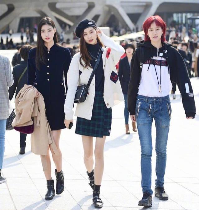 韩国街拍超养眼 早秋可盐可甜的少女感穿搭学起来