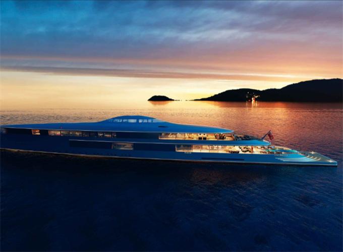 荷兰公司Sinot设计出的最新概念必发彩票官方最新app下载:名为Aqua的超级豪华游艇