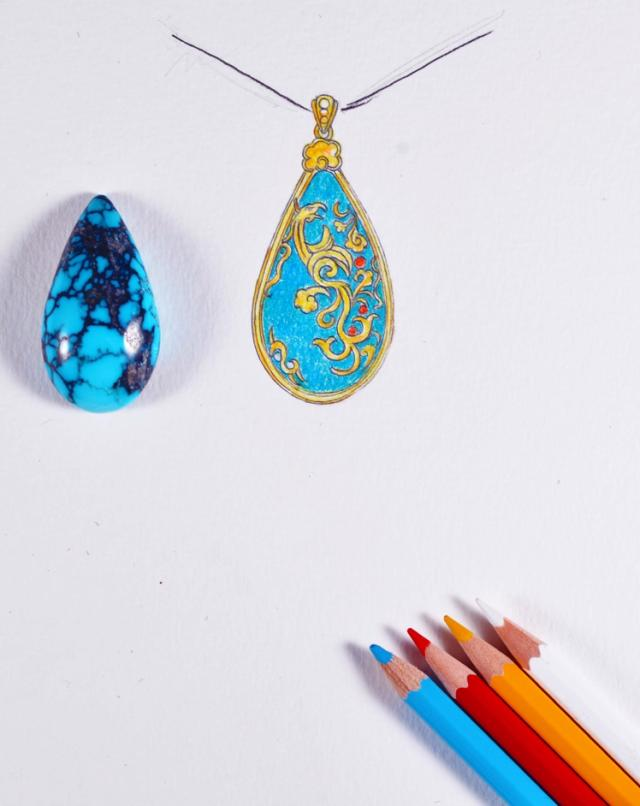 珠宝首饰设计的原始模样 每一张都赋予了不同情感