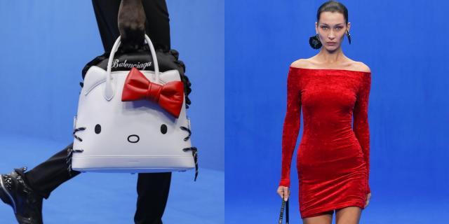 巴黎世家包包的款式竟发现了超卡哇伊的Hello Kitty!