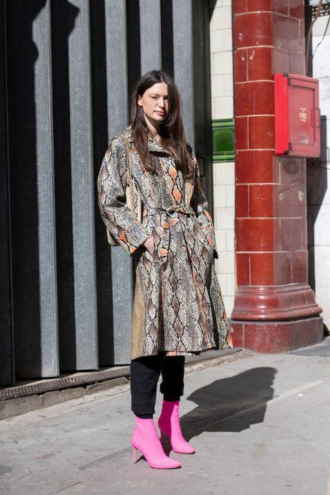 超狂动物纹时髦穿搭术 可谓是今年伦敦时装秀场外的一大风景