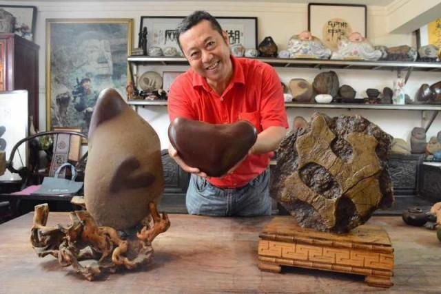 他独爱石头 将沩水河定制一座奇石收藏馆
