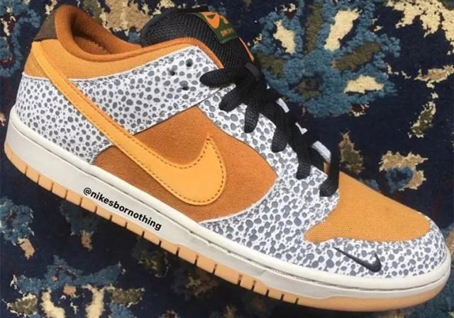 """石斑纹Dunk SB Low """"Safari""""首次曝光 又将为Nike SB旗下再添一名重磅新成员!"""