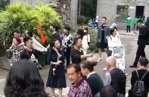 王思聪带女友看熊猫 黑衣黑裤相当低调