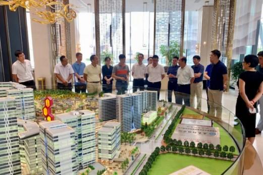 东莞市工业和信息化局一行人莅临黄金小镇考察指导工作
