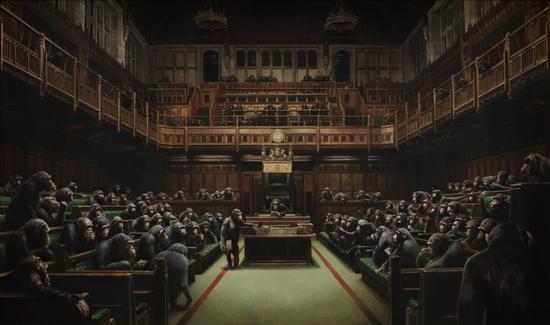 Banksy十年前预言英国脱欧之作《国会移交》以8600万元成交