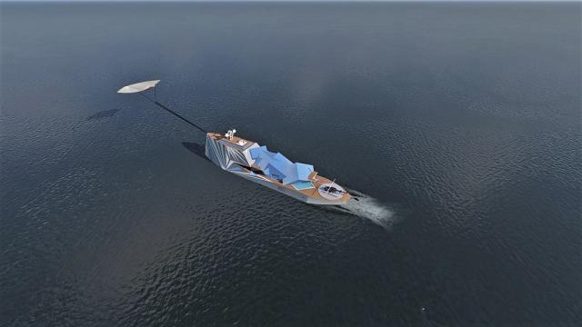 一艘价值9000万英镑的北极超级游艇被设计成看起来像一座冰山