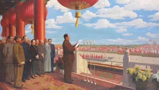"""""""共和国成立的艺术见证""""——《开国大典》是如何绘制的"""