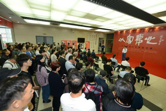 """""""以写我心——全国书画印名家邀请展""""在刘海粟美术馆开幕"""