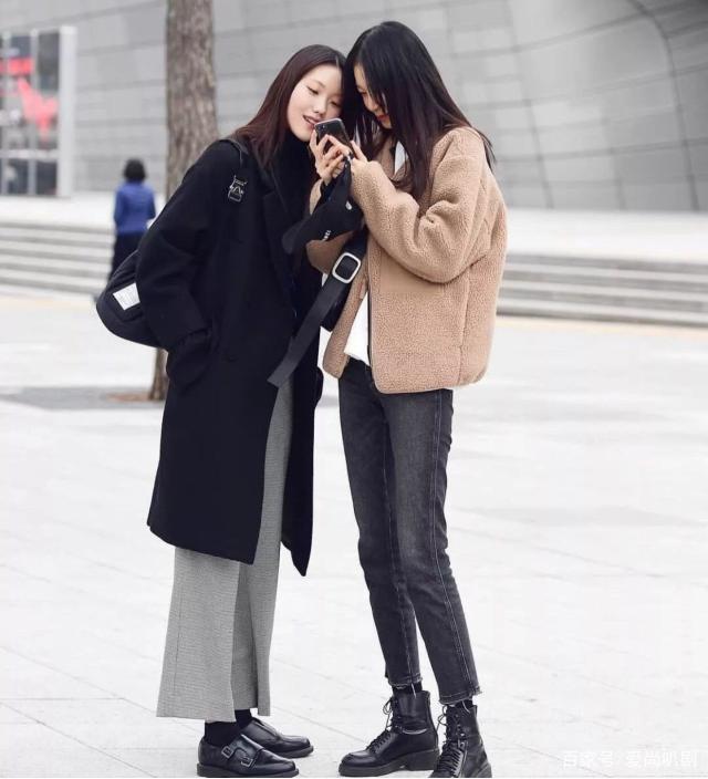 韩国女生的秋冬街拍穿搭 保暖又好看!