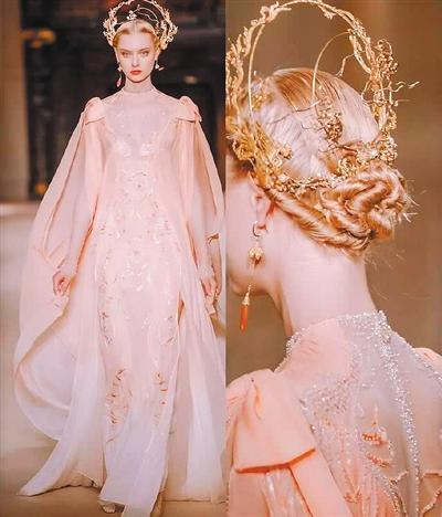 设计师熊英将敦煌壁画的璀璨艺术惊艳巴黎时装周