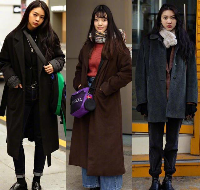 韩国秋冬外套街拍 想走潮流的跟着买绝对错不了!