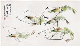 张大壮代表作《群虾图》