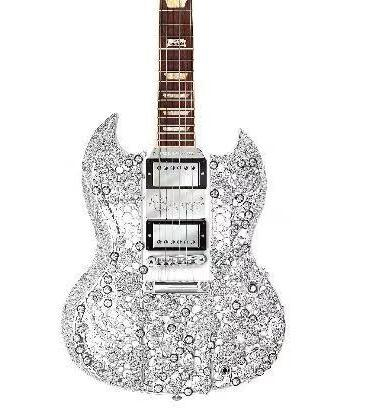 价值200万美元的钻石吉他亮相进博会