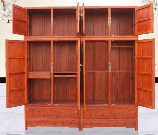 """""""花鸟顶箱柜""""红木家具的价格是多少钱?"""